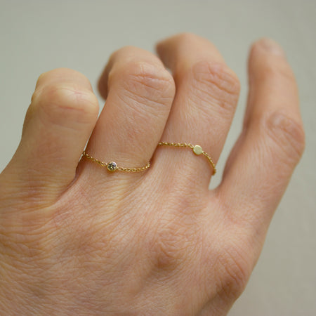 STORMY DIAMOND CHAIN RING - Irena Chmura Jewellery