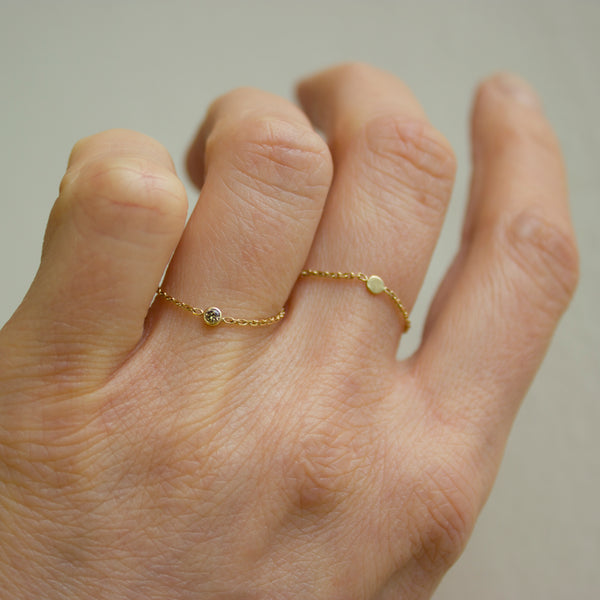 Stormy Diamond & Chain Ring