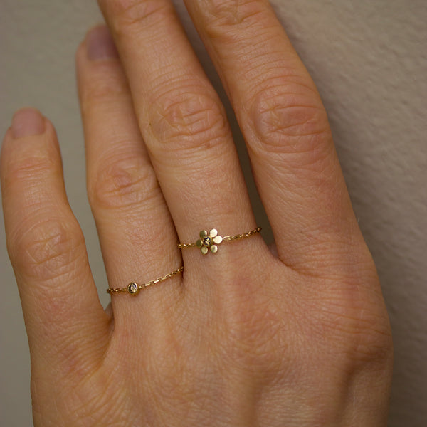 FIORE CHAIN RING - BROWN DIAMOND - Irena Chmura Jewellery