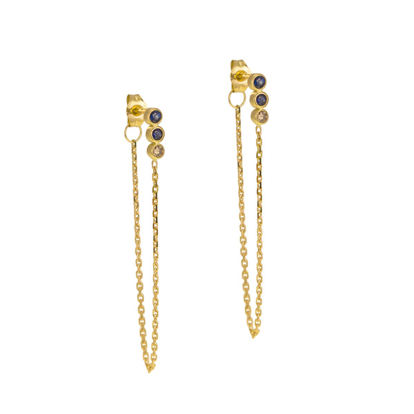 NEREID CHAIN EARRINGS - Irena Chmura Jewellery