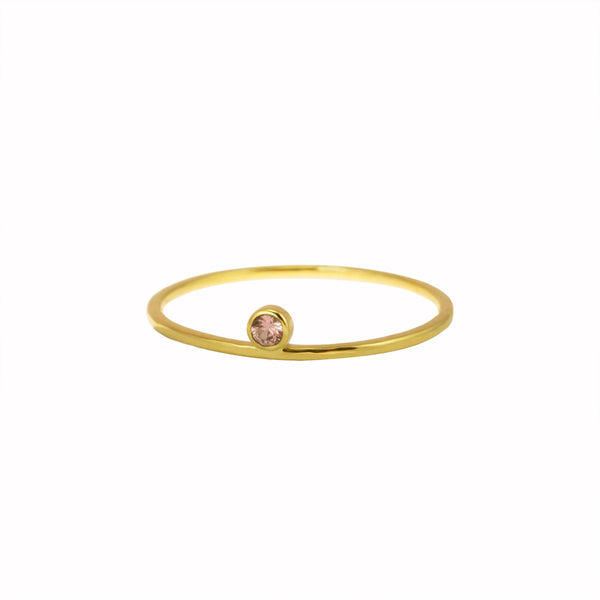 BLUSH SINGLE DROP RING - Irena Chmura Jewellery