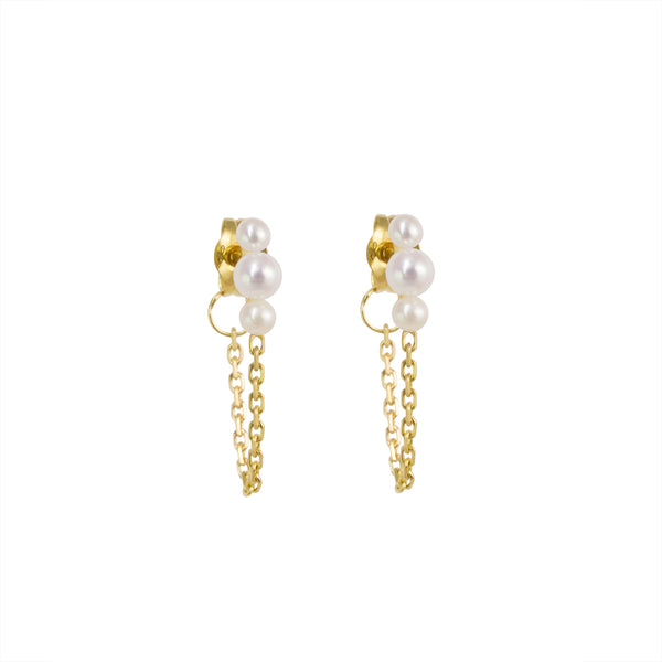 MERMAID CHAIN EARRING - Irena Chmura Jewellery