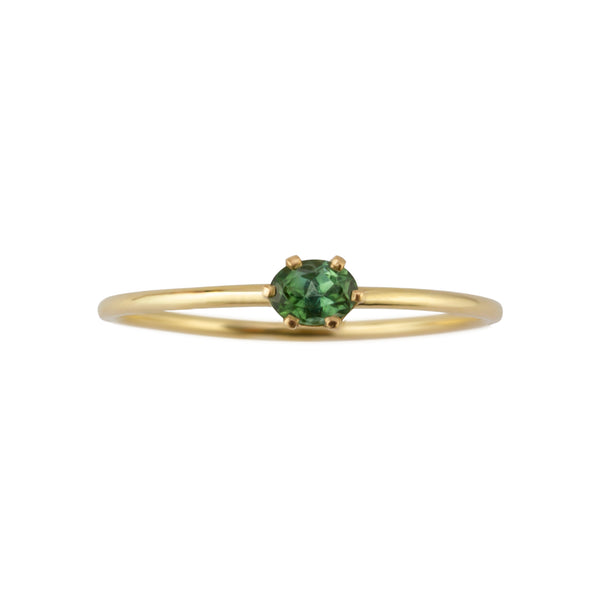 ELFIN OVAL TOURMALINE SOLITAIRE RING - Irena Chmura Jewellery