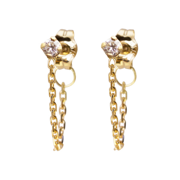 ICICLE DIAMOND CHAIN EARRING - Irena Chmura Jewellery