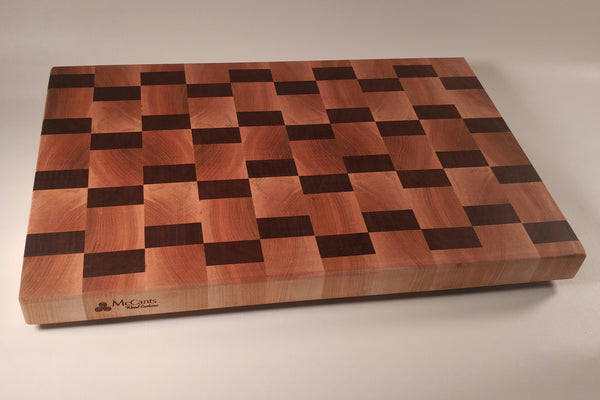 End Grain Chopping Block - Offset Style