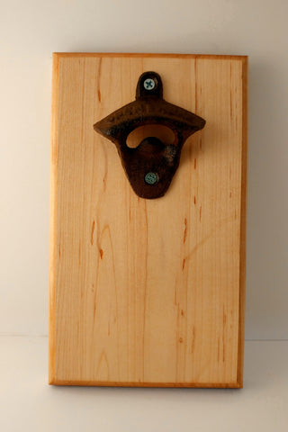 Maple Bottle opener with magnetic catch