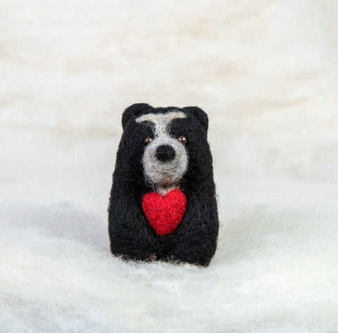 Bear - Spectacled Bear with Heart