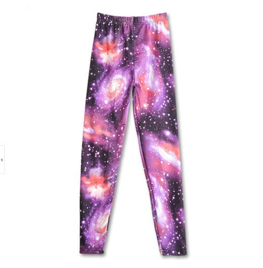 Dmart7deal;Leggings Plus Size Pencil Pant Tropical Galaxy Casual  Legging