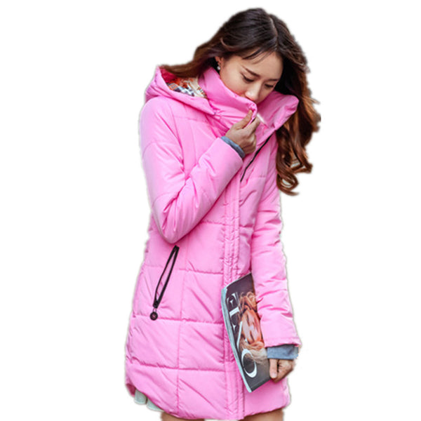 Dmart7dael;Slim Down coat Parka Thick Hooded Cotton-Padded Jacket
