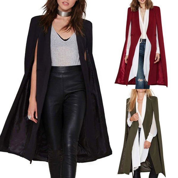 Dmart7deal;ape Cardigan Blazer Plus Size Cloak Jacket Trench Coat Outerwear Blazer Suits