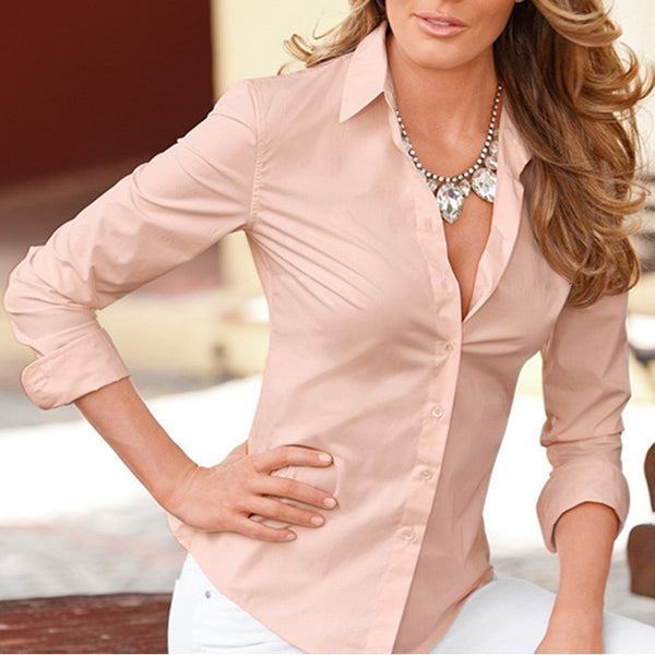 Vintage White Casual Long Sleeve Women Blouses 2016 Summer New Brand Fashion Elegant Sexy Ladies Office Shirts Plus Size Tops