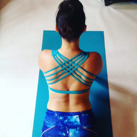 Crossed Back Bra Top - Blue Booby