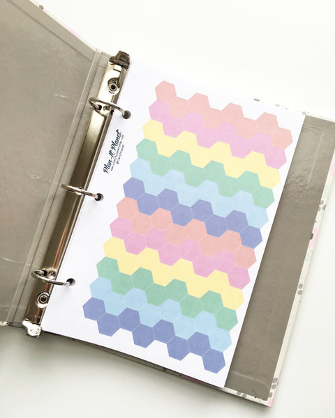 Email @ Symbol Mini Binder Sheet