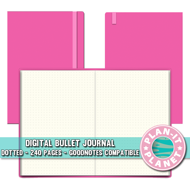 Pink Dotted Bullet Journal [Instant Download]
