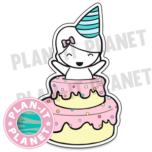 Birthday Cake Luna Large Die Cut