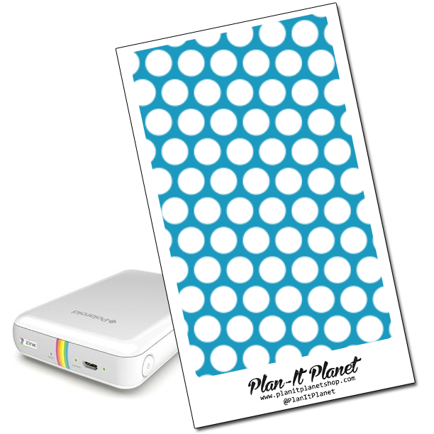 Blue with White Polka Dot Polaroid Zip Skin