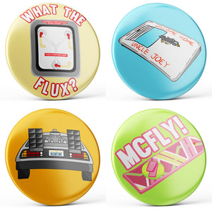 Back to the Future Buttons (4-piece set)