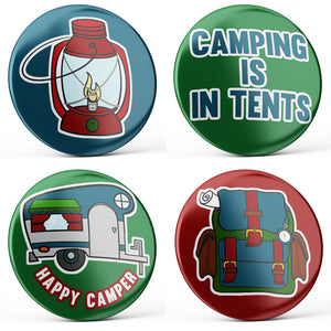 Camping Buttons (4-piece set)