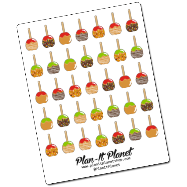 Caramel Apple Stickers