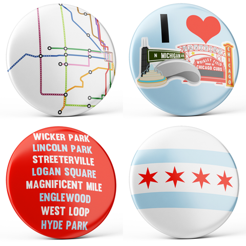Chicago Buttons (4-piece set)