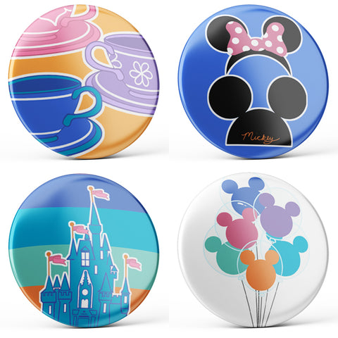 Disney Parks Buttons (4-piece set)