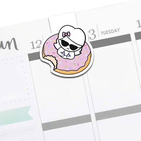Donut Float Luna Bookmark