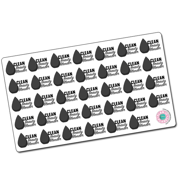 Clean Beauty Blender Stickers