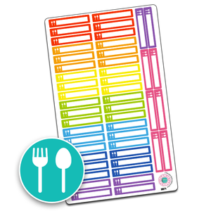 Meal Icon Slim Header Boxes