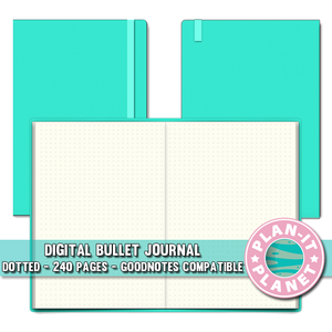 Mint Dotted Bullet Journal [Instant Download]