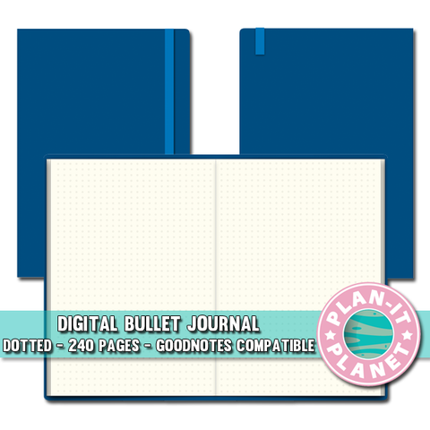 Blue Dotted Bullet Journal [Instant Download]