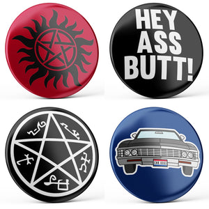 Supernatural Buttons (4-piece set)