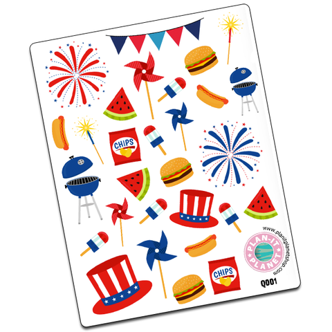 4th of July Deco Stickers