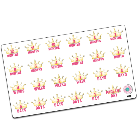 Pageant Countdown Stickers