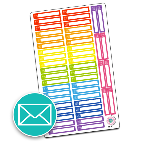 Mail Icon Slim Header Boxes