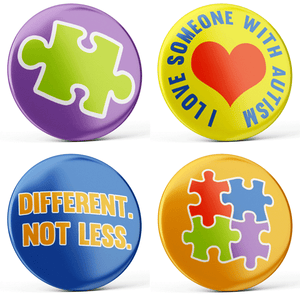 Autism Buttons (4-piece set)