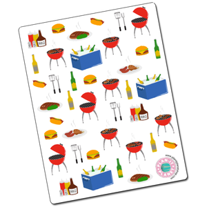 BBQ Grilling Deco Stickers