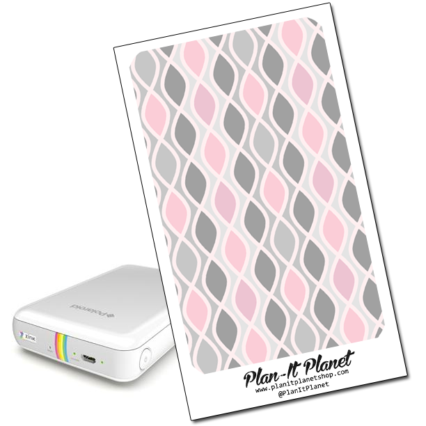 Pink and Gray Polaroid Zip Skin