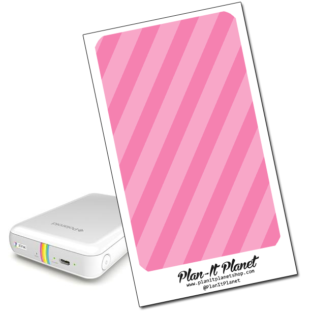 Pink Stripes Polaroid Zip Skin