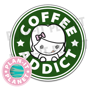 Coffee Addict Luna Large Die Cut