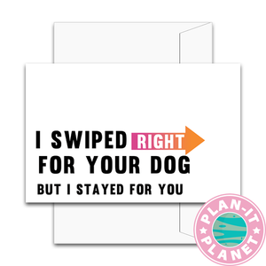 Swiped Right Greeting Card