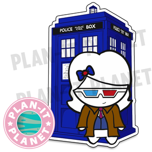 10th Doctor and TARDIS Luna Large Die Cut