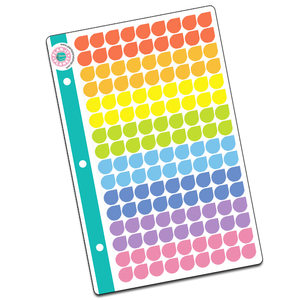 Tear Drop Mini Binder Sheet