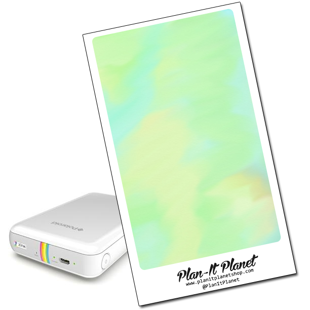Green Watercolor Polaroid Zip Skin