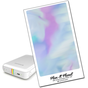 Blue & Purple Watercolor Polaroid Zip Skin