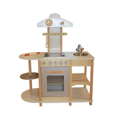 Liberty House Toys Breakfast Bar Wooden Toy Kitchen with accessories