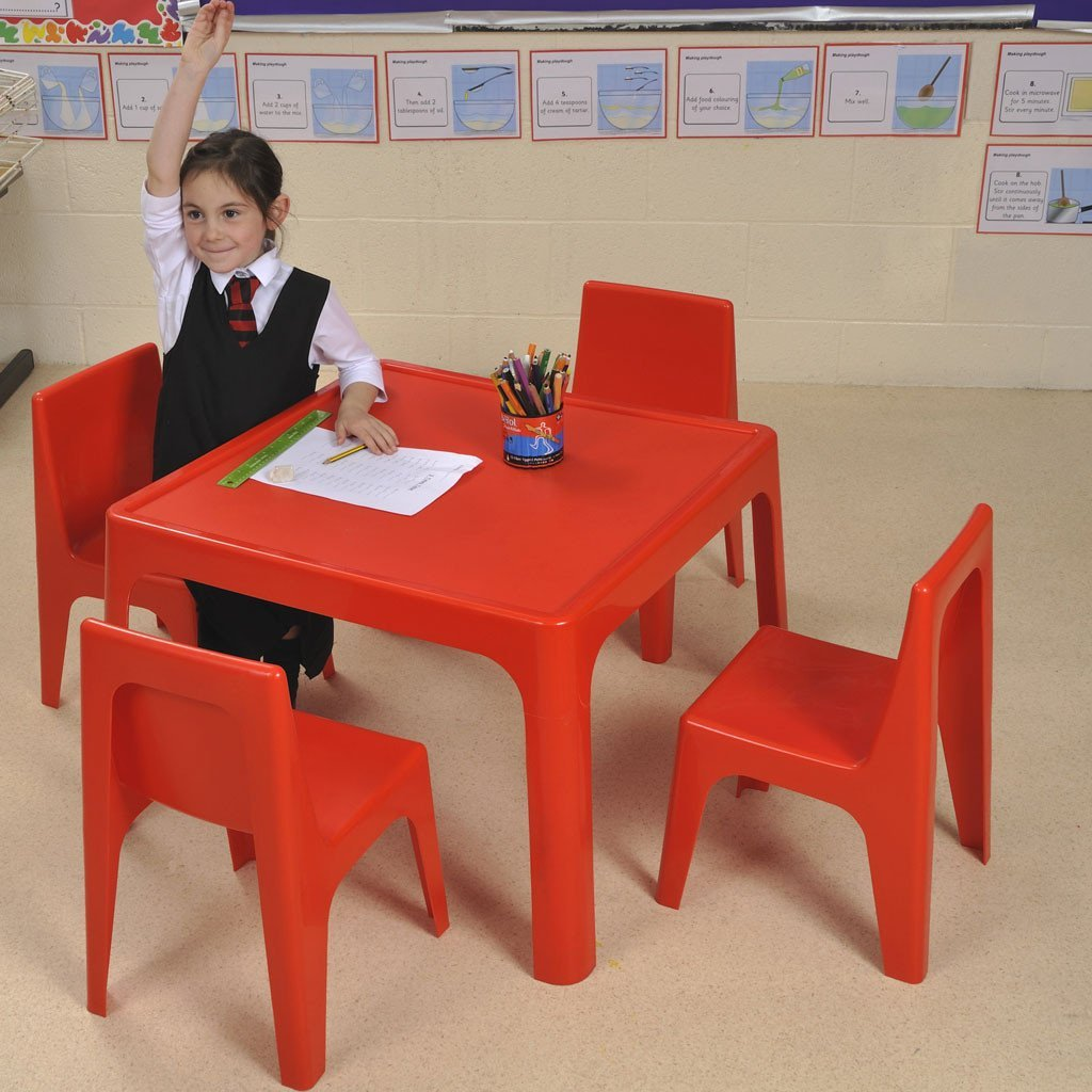 Jolly Kidz Table & 4 Chair Set - Red