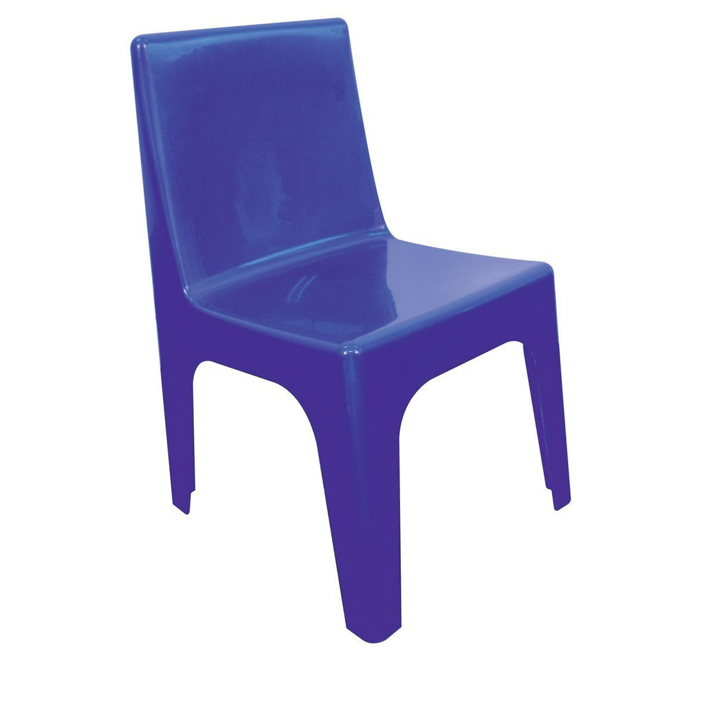 Jolly Kidz Set of 4 Kids Chairs - Blue
