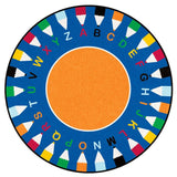 Learning Carpets 'ABC Pencil' Learning Rug - Round