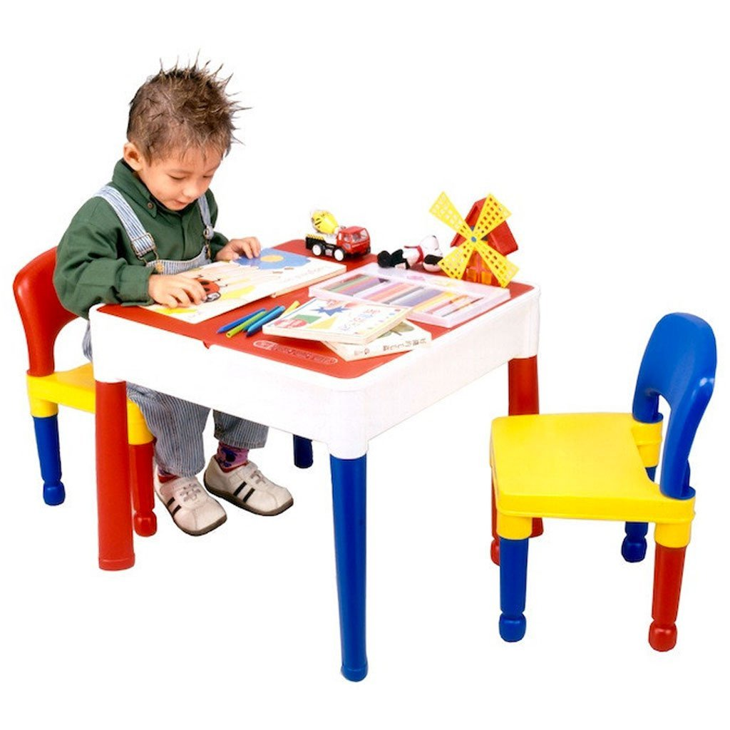 Liberty House 3-in-1 Multipurpose Square Activity Table & Two Chairs
