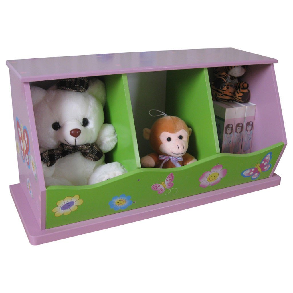 Liberty House Toys 'Butterfly Garden' 3-Bin Storage Unit